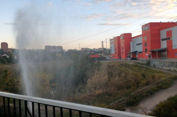 Новый коммунальный фонтан забил наТемернике вРостове