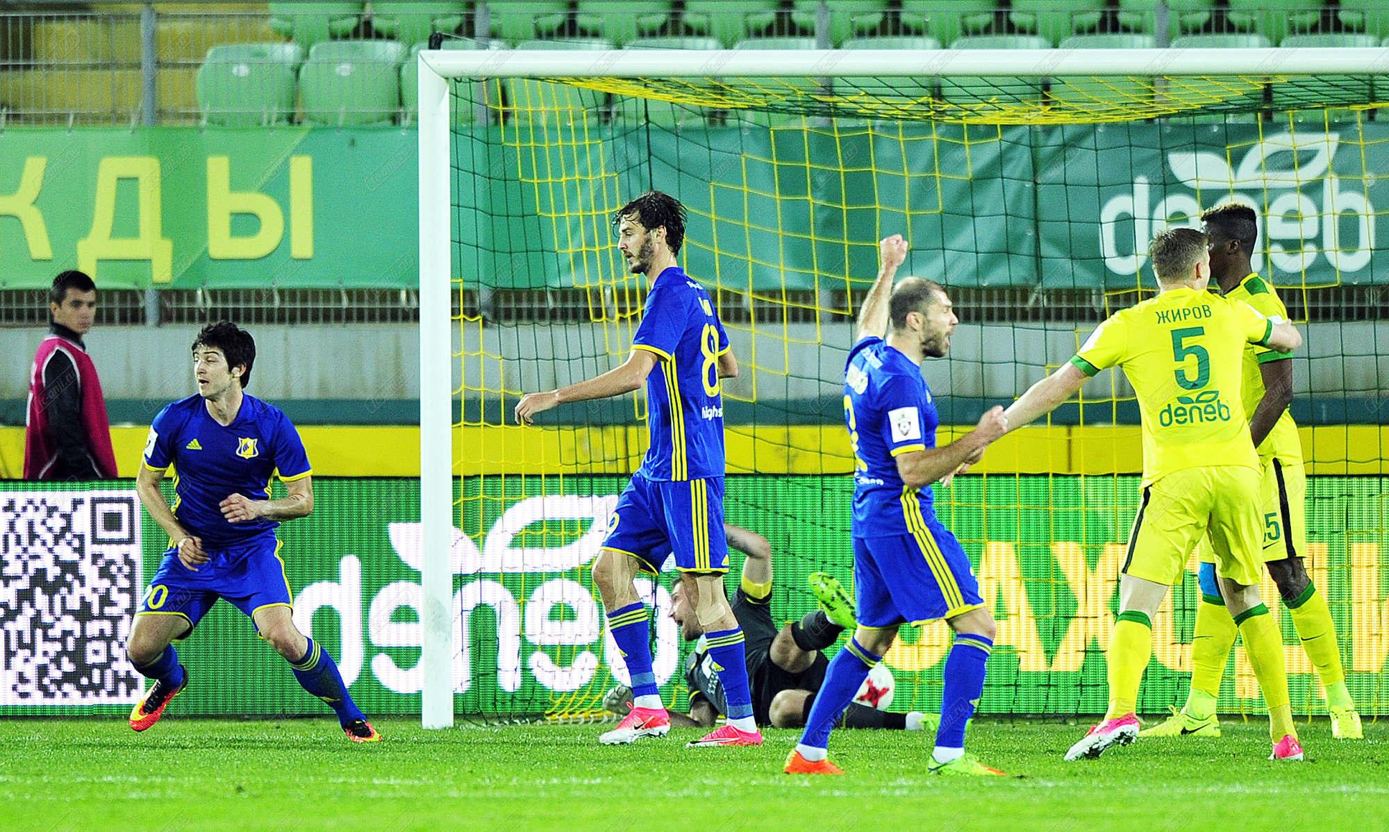 ФК «Ростов» в заключительном домашнем матче сезона одержал победу над «Рубином»