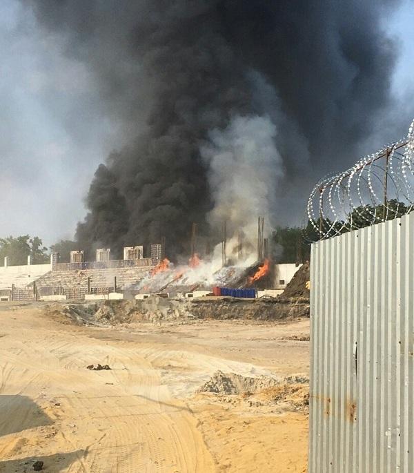 ВТаганроге горел стадион «Торпедо» реконструируемый кЧМ